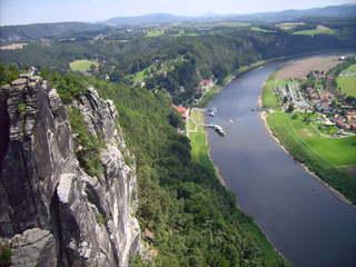 Bastei (Fels) - Bastei, Elbe, Elbsandsteingebirge, Sächsische Schweiz, Felsformation, Naturschutzgebiet