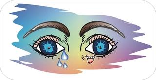 Sprichwörter - bildlich dargestellt - Sprichwort, Redewendung, Umgangssprache, bildlich, lachen, weinen, Auge