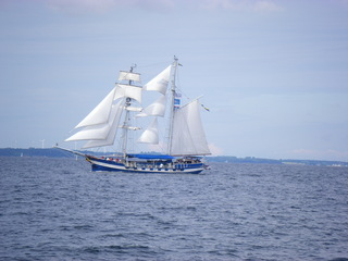 Baltic Beauty - Segeln, Oldtimmer, Zweimaster, Schweden, Tall Ship Race, Travemünde Sail, Segelschiff, Schiff, Segel, blau