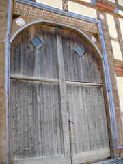 Tür von 1737 - Hessenpark, Gebäudeteil, Tür, Inschrift
