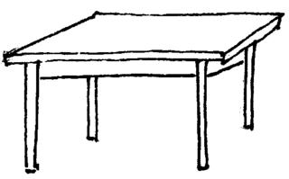 Tisch - Tisch, Tischplatte, Tischbeine vier, Anlaut T, Wörter mit sch