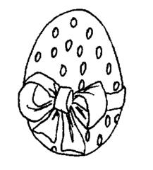 Osterei - Osterei, Ostern, Illustration, Anlaut O, Schleife