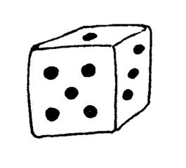 Würfel - Würfel, würfeln, Spiel, spielen, fünf, drei, eins, Anlaut W, Punkte, Menge, Wörter mit ü