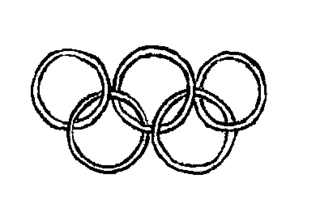 Olympische Ringe - olympische Ringe, Olympia, Anlaut O, fünf
