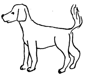 Hund - Hund, Illustration, Anlaut H