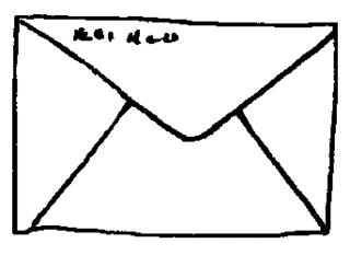 Brief - Brief, Anlaut B, Umschlag, Briefumschlag, Post
