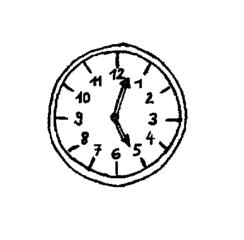 Uhr - Uhr, Zifferblatt, Zeit, Anlaut U