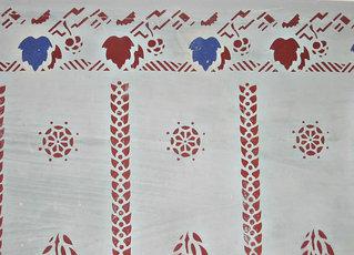 Schablonenmalerei #1 - Schablonenmalerei, schablonieren, malen, Kunst, Handwerk, Verzierung