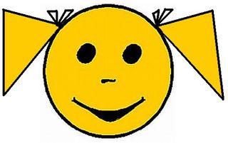 Smiley Mädchen1 - Smiley, Symbol, Button, Zeichen, Mädchen