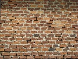 Ziegelmauer #1 - Hauswand, Ziegel, Ziegelmauer, versetzt, Ziegelverband, Fuge, Mörtel, Binderverband, Muster, Struktur