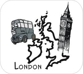 Bild: Fach 'Englisch' - Englisch, Sprache, Bild, Logo, kennzeichnen, Piktogramm, Stundenplan