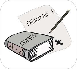 Bild. Fach 'Deutsch' - Deutsch, Schulfach, kennzeichnen, Piktogramm, Stundenplan