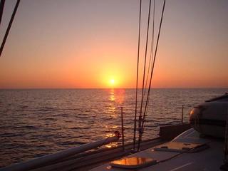 Ein Sonnenuntergang auf der Nordsee - Wetter, Sonnenuntergang, Wasser, Sonnenuntergang, Meer, Horizont, Dämmerung