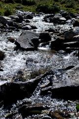 Gebirgsbach - Österreich, Tirol, Alpen, Wasser, Gebirgsbach, Alm, Wasserlauf, Steine, Bach, plätschern, fließen