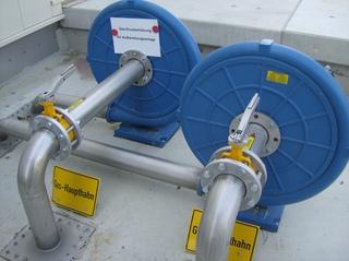 Biogasanlage #12 - Hahn, Haupthahn, abstellen, Gas, schließen, verschließen, Zweiwegehahn
