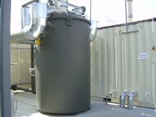 Biogasanlage #17 - Biogasanlage, Kessel, Schwachgas, Verbrennung, Zylinder