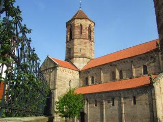 Peter und Paulskirche in Rosheim - Peter und Paul, Kirche, Elsass, Frankreich, Romanik, Architektur, Langhaus, Querschiff