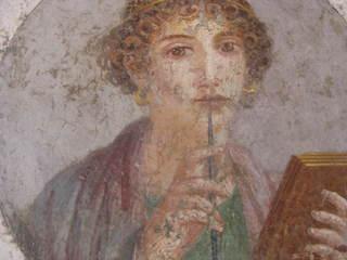 Die erste griechische Dichterin: Sappho - Antike, Sappho, Dichterin, Lyrikerin, Lesbos, Muse, Mosaik
