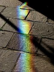 Spektrum #2 - Regenbogen, Spektrum, Spektralfarben, Wellenlänge, Licht, Brechung, Prisma, Farbzerlegung