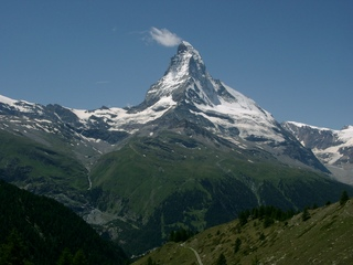 Matterhorn - Berge, Gipfel, Matterhorn, Zermatt, Schweiz, Zentralalpen, Berg, Gebirge, Alpen, hoch