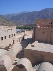 Fort Nakl im Oman - Fort, Festung, Wadi, Dattelplamen, Plantage, Oase, Oman, Arabische Halbinsel, Wüste
