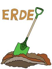 Erde - Erde, graben, umgraben, Garten, Keimungsbedingungen, Spaten, Schaufel, schaufeln, Gärtner
