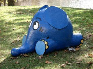 ... und hier der Elefant #2 - Fernsehen, Kindersendung, Elefant, blau, Maus, TV, ZDF, Figur