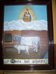Votivtafel - Maria, Marienverehrung, Heilige, heilig, Rettung, Dank, Not, Hilfe, bitten, Bitte, beten, Gebet, Gelübde, katholisch