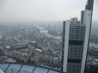 Blick auf Innenstadt von Frankfurt/M - Hochhäuser, Frankfurt am Main, Frankfurt/M, Main, Commerzbank, Paulskirche