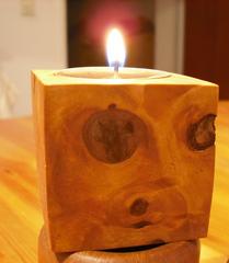 Teelicht mit Gesicht  - Teelicht, Kerze, Kerzenschein, Kerzenhalter