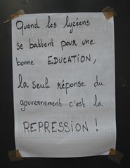 Streikplakat - Grève des lycéens à Paris - grève, Streik, Plakat, Lycéens