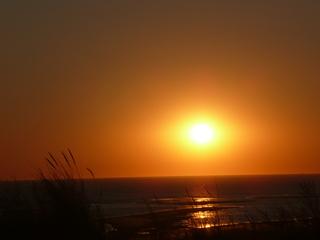 Ein Tag geht zu Ende #3 - Sonnenuntergang, Langeoog, Insel, Nordsee, Ostfriesland, Meer, Sonne, Poster, Idylle, Romantik, Schreibanlass, Meditation, Abendrot, Sonne