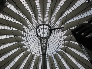 Sony-Center - Dach - Dach, Architektur, Glas, Berlin, Sony Center