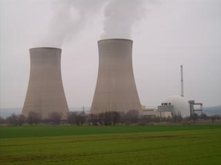 Kernkraftwerk Grohnde - Atomkraftwerk, Kernkraftwerk, Grohnde, Weser, Kühlturm, Atomstrom, Eon, Elektrizität, Atomkraft
