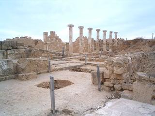 Zypern - Ruinen von Paphos #2 - Zypern, Ausgrabung, Weltkulturerbe, Geschichte, Antike, Archäologie, Paphos, Ruinen, Säulen