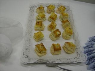 Blätterteigkissen - Gebäck, salzig, Blätterteig, Käsecreme
