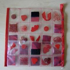 Tasche aus einer Klarsichtfolie #4 - Tasche, Klarsichfolie, Streuteile, Kante, Kantenverarbeitung, Schrägband, rollieren, stecken, Stecknadeln