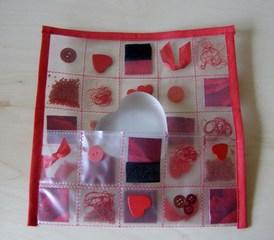 Tasche aus einer Klarsichtfolie #5 - Tasche, Klarsichtfolie, Streuteile, Kantenverarbeitung, Schrägband, Klettband, Verschluß