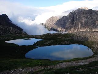 Bergseen (Nähe Drei Zinnen) - Bergsee, See, Gebirge, Urlaub, Natur, Bergwelt, Stille, Meditation, bergwandern, Abend, Drei-Zinnen-Hütte