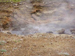 kleiner Geysir - sprudeln, heiß, Geysire, Quelle, Island, endogene Kräfte, divergierende Platten, Plattentektonik