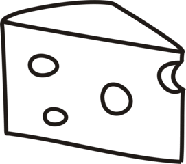 Käse - Käse, Milch, Milchprodukt, Anlaut K, Loch, Löcher, Wörter mit ä