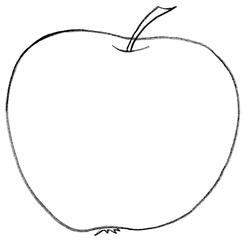 Apfel - Apfel, Stiel, Obst, Kernobst, Anlaut A