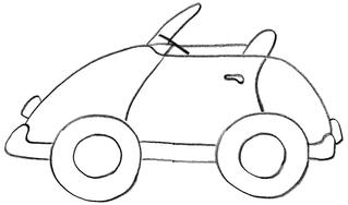 Auto - Auto, Grundwortschatz, Nomen, Cabrio, Straßenverkehr, Rad, Automobil, Volkswagen, VW, Kraftwagen, Kraftfahrzeug, car, Anlaut Au