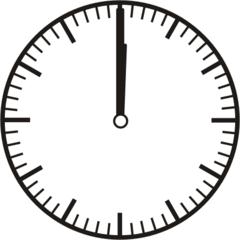 Uhrzeit 12.00   24.00  0.00 - Uhr, Uhrzeit, volle Stunde, ganze Stunde, Zeit, Zeitspanne, Zeitpunkt, Zeiger, Mechanik, Zeitskala, Zeitgeber, Analoguhr, Zifferblatt, Ziffernblatt, rechtsdrehend, Uhrzeigersinn, Minute, Kreis, Winkel, Grad, Mathematik, Größen, messen, time, clock, ermitteln, Zeitraum, Dauer, Frist, Termin, Zeitabschnitt