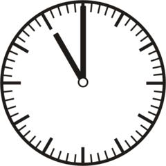 Uhrzeit 11.00    23.00 - Uhr, Uhrzeit, volle Stunde, ganze Stunde, Zeit, Zeitspanne, Zeitpunkt, Zeiger, Mechanik, Zeitskala, Zeitgeber, Analoguhr, Zifferblatt, Ziffernblatt, rechtsdrehend, Uhrzeigersinn, Minute, Kreis, Winkel, Grad, Mathematik, Größen, messen, time, clock, ermitteln, Zeitraum, Dauer, Frist, Termin, Zeitabschnitt