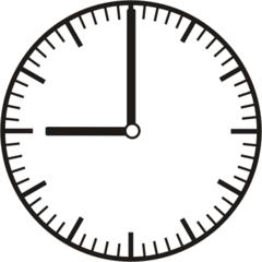 Uhrzeit 9.00   21.00 - Uhr, Uhrzeit, volle Stunde, ganze Stunde, Zeit, Zeitspanne, Zeitpunkt, Zeiger, Mechanik, Zeitskala, Zeitgeber, Analoguhr, Zifferblatt, Ziffernblatt, rechtsdrehend, Uhrzeigersinn, Minute, Kreis, Winkel, Grad, Mathematik, Größen, messen, time, clock, ermitteln, Zeitraum, Dauer, Frist, Termin, Zeitabschnitt