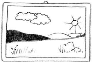 Bild - Bild, Zeichnung, Motiv, Linie, Strich, Grafik, Bilderrahmen, Wandschmuck, picture, drawing, Anlaut B