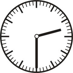 Uhrzeit 2.30 14:30 - Uhr, Uhrzeit, halb, Zeit, Zeitspanne, Zeitpunkt, Zeiger, Mechanik, Zeitskala, Zeitgeber, Analoguhr, Zifferblatt, Ziffernblatt, rechtsdrehend, Uhrzeigersinn, Minute, Stunde, Kreis, Winkel, Grad, Mathematik, Größen, messen, time, clock, ermitteln, Zeitraum, Dauer, Frist, Termin, Zeitabschnitt, half past two