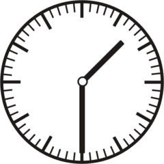 Uhrzeit 1.30    13.30 - Uhr, Uhrzeit, halb, Zeit, Zeitspanne, Zeitpunkt, Zeiger, Mechanik, Zeitskala, Zeitgeber, Analoguhr, Zifferblatt, Ziffernblatt, rechtsdrehend, Uhrzeigersinn, Minute, Stunde, Kreis, Winkel, Grad, Mathematik, Größen, messen, time, clock, ermitteln, Zeitraum, Dauer, Frist, Termin, Zeitabschnitt, half past