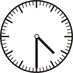 Uhrzeit 4.30    16.30 - Uhr, Uhrzeit, halb, Zeit, Zeitspanne, Zeitpunkt, Zeiger, Mechanik, Zeitskala, Zeitgeber, Analoguhr, Zifferblatt, Ziffernblatt, rechtsdrehend, Uhrzeigersinn, Minute, Stunde, Kreis, Winkel, Grad, Mathematik, Größen, messen, time, clock, ermitteln, Zeitraum, Dauer, Frist, Termin, Zeitabschnitt, half past